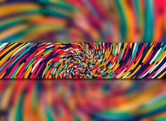 Картинка на шаблон для ютуба красочные линии крупным планом