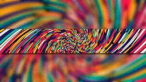 Картинка шаблон для ютуба красочные линии крупным планом