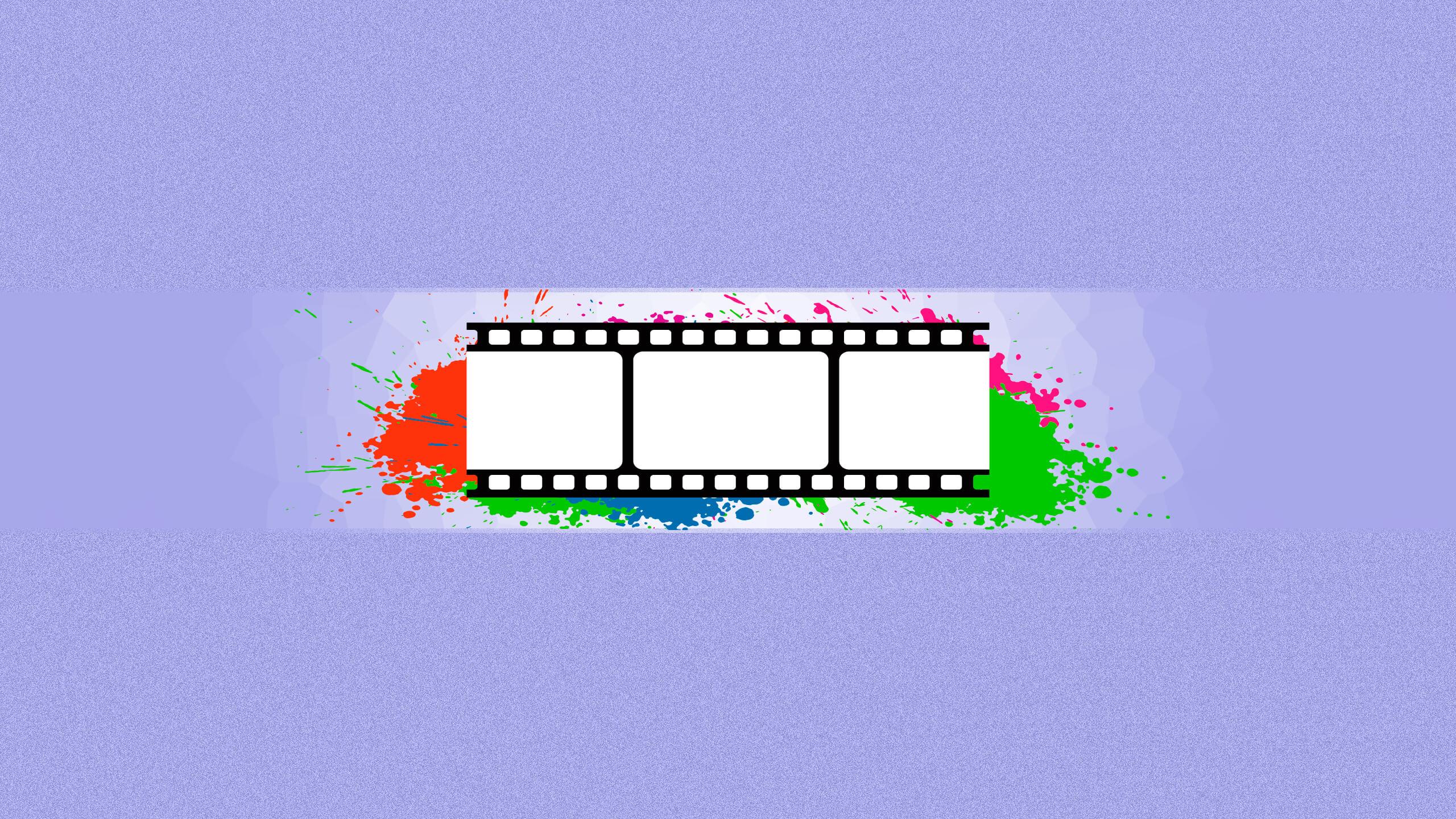 Картинка киноплёнки на баннер для ютуба