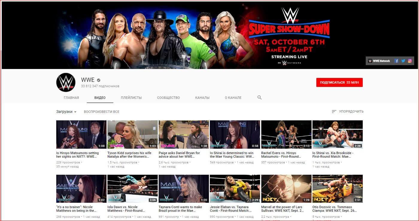 Шапка для канала ютуб WWE