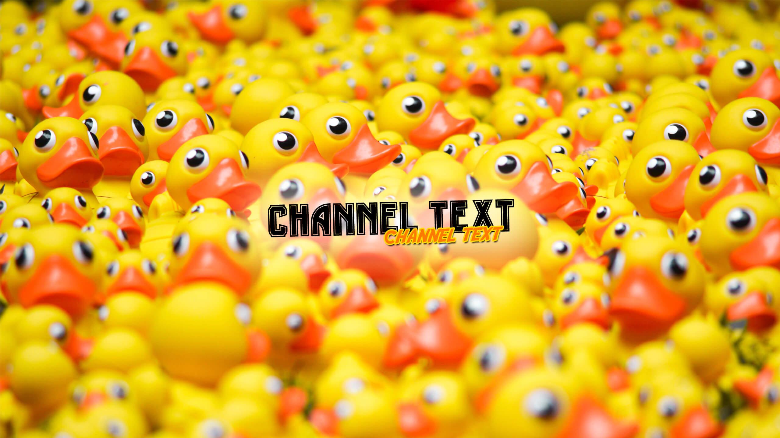 Фото с жёлтыми резиновыми утятами для канала ютуб.