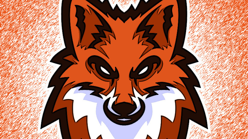 Картинка лиса на аву ютуба на оранжевом фоне