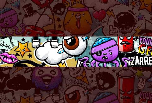 Картинка шапка для ютуба граффити с животными