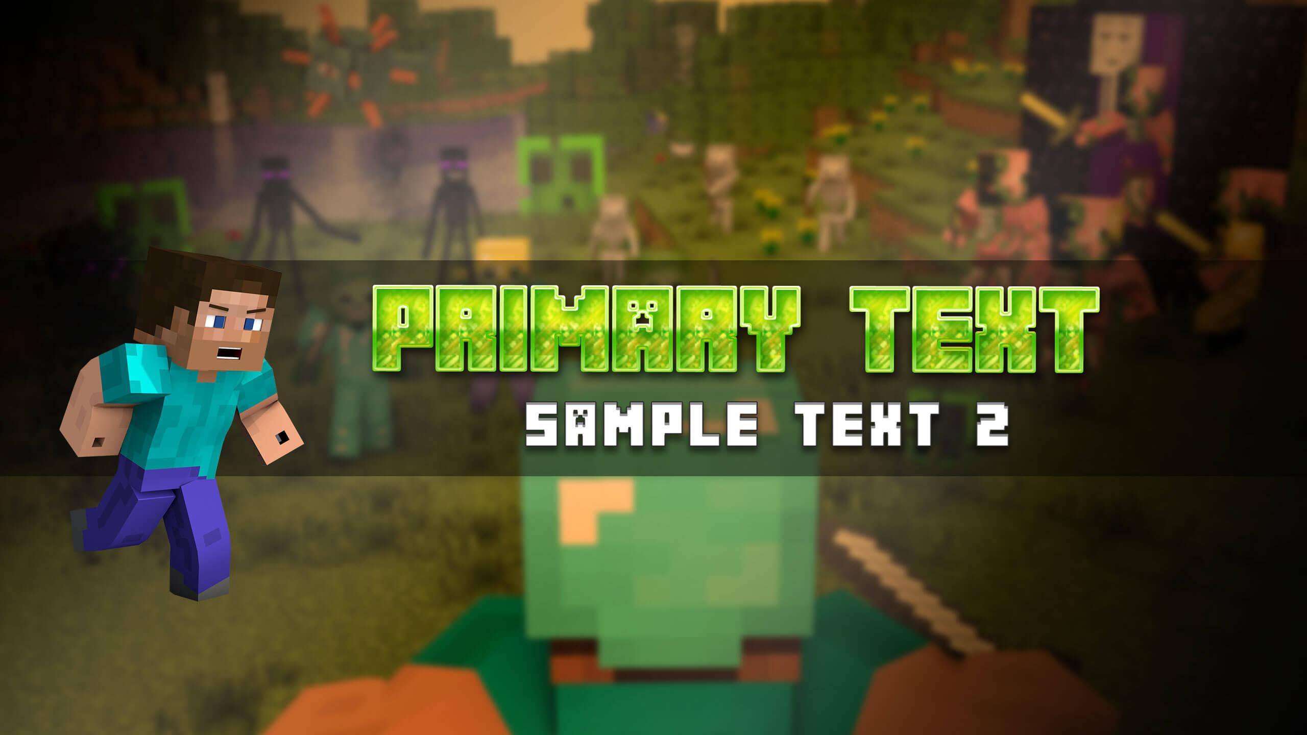 Картинка для канала ютуб с персонажем игры майнкрафт.
