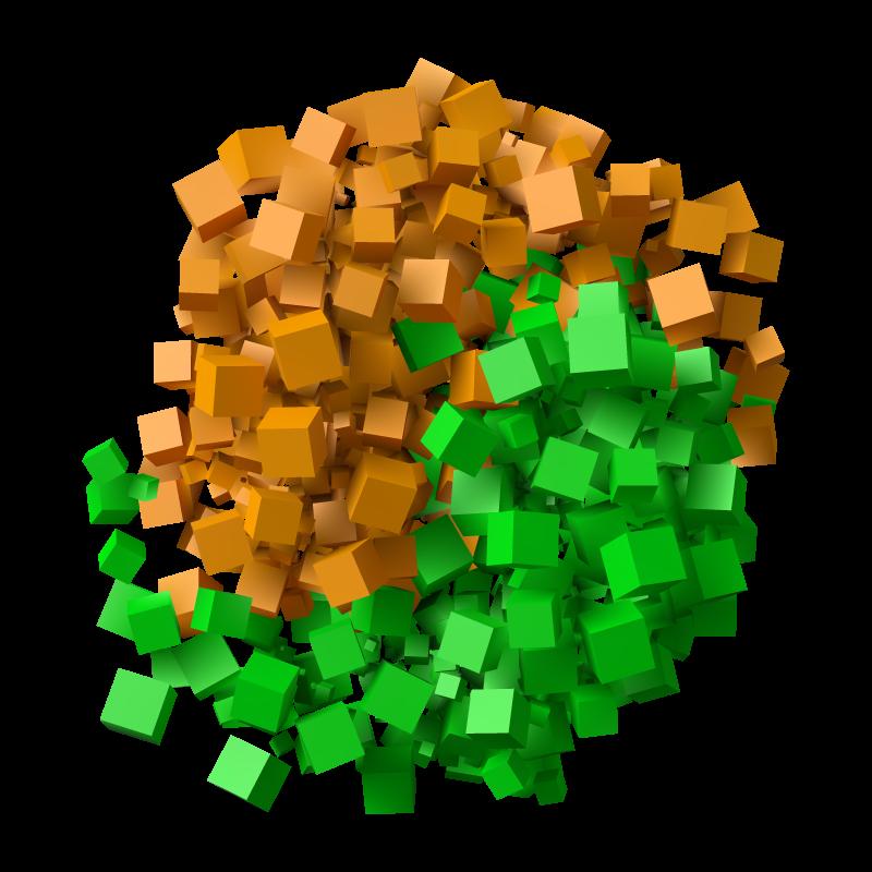 Картинка на аву ютуба с логотипом майнкрафт из зелёных и коричневых кубиков.