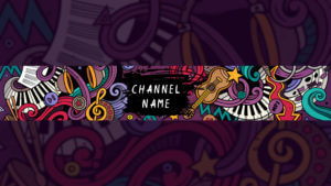 Картинка для фонового баннера на ютуб Музыка
