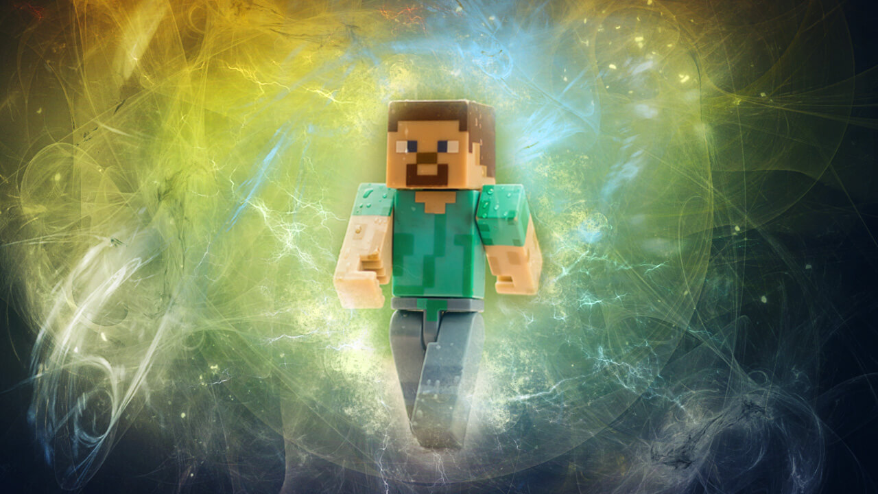 Картинка для обложки ютуба Стив в радуге.