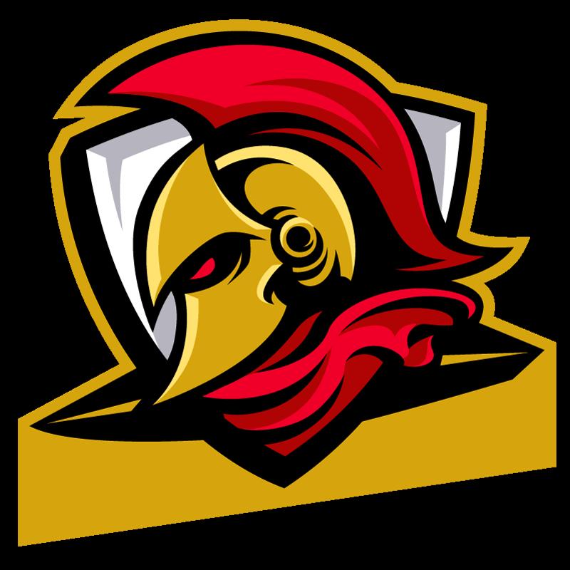 Картинка для авы ютуба с красно - жёлтым спартанским шлемом.