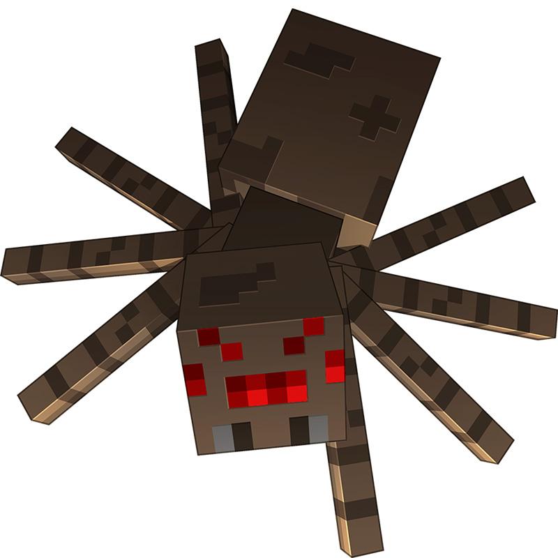 Коричневый паук из кубиков.
