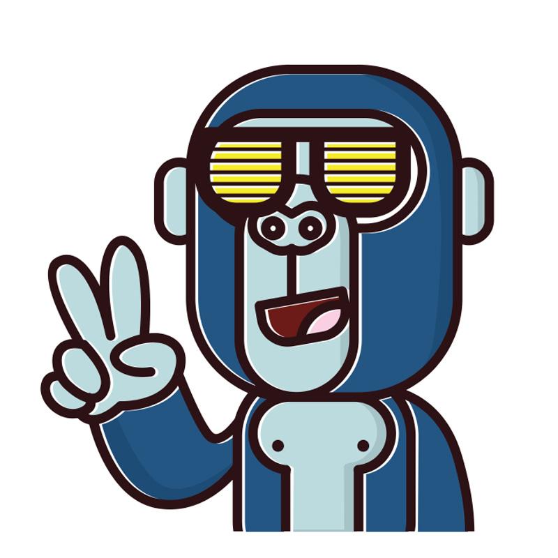 Картинка для авы обезьяна в очках.