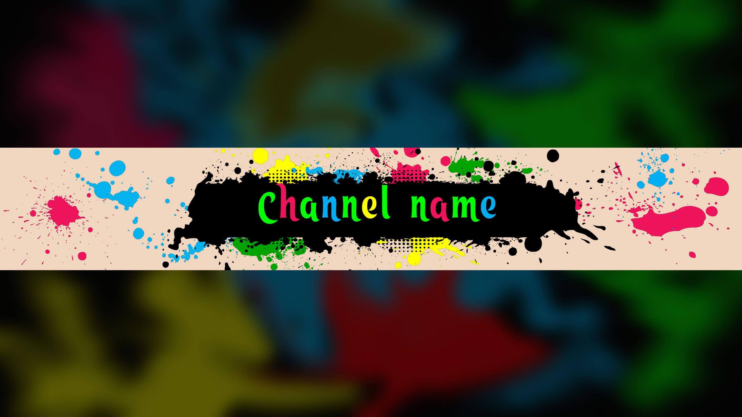 Картинка для канала ютуб с цветными брызгами.