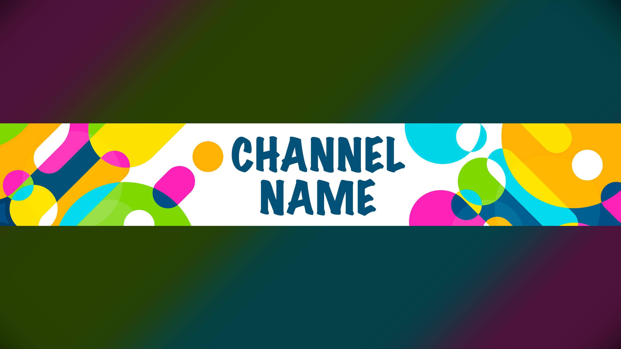 Картинка для фона ютуб канала с разноцветными кругами.