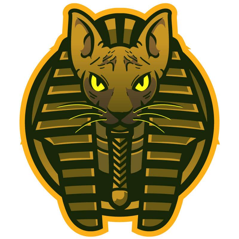 Картинка кошка фараонов на аву для игрового канала.