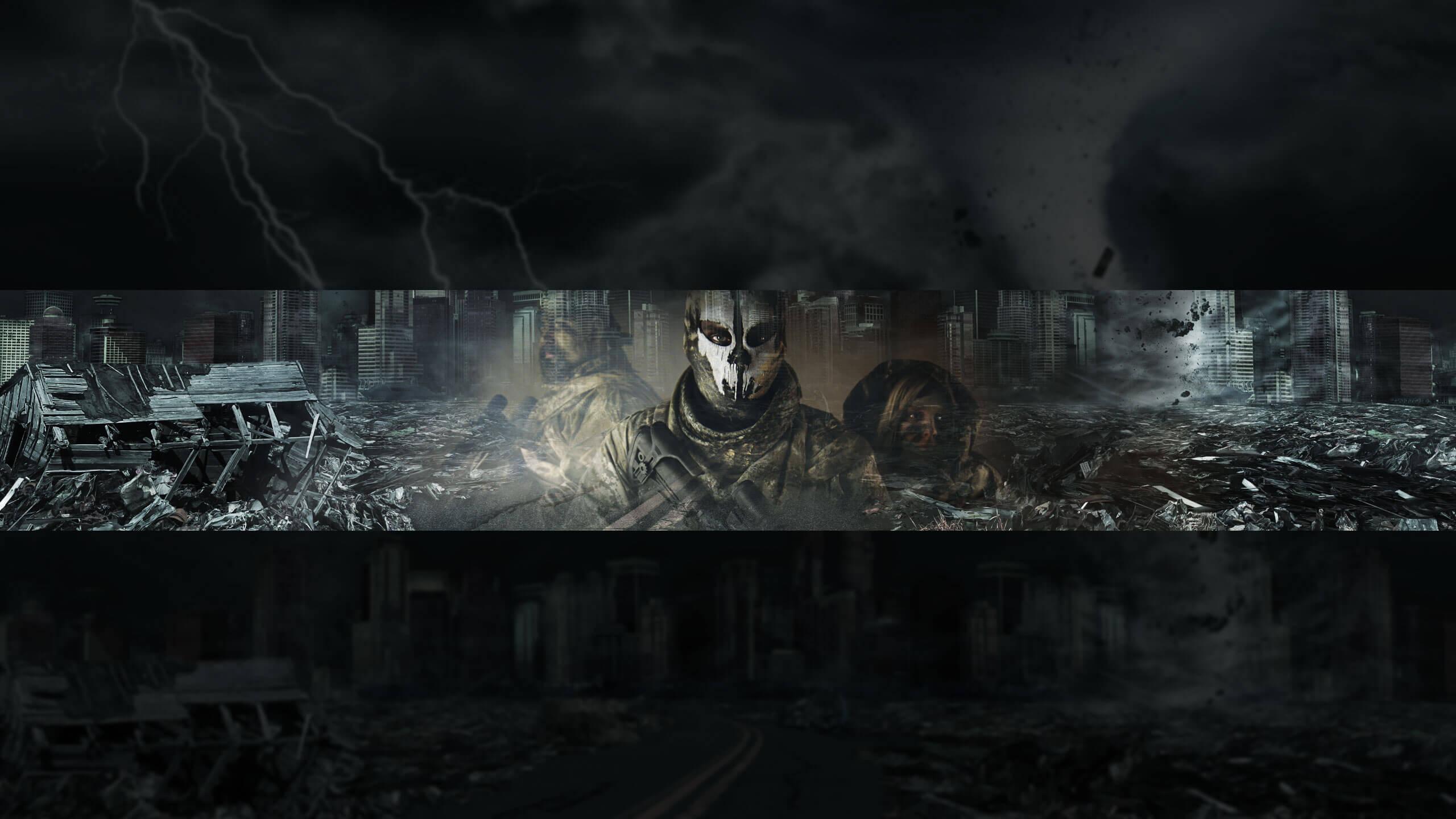 Картинка с городскими руинами для шапки ютуба КС ГО