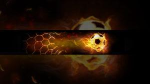 Картинка для баннера на ютуб Огненый мяч