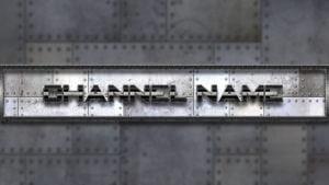 Картинка для баннера на ютуб канал Стальная обшивка