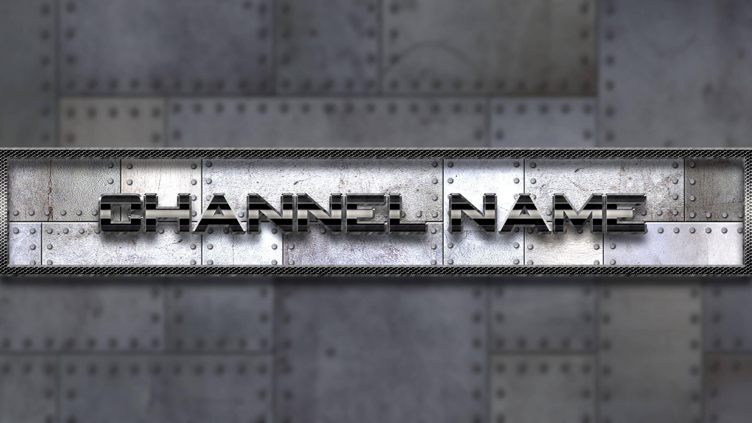 Картинка для баннера на ютуб канал стальная обшивка.