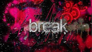 Картика с надписью break