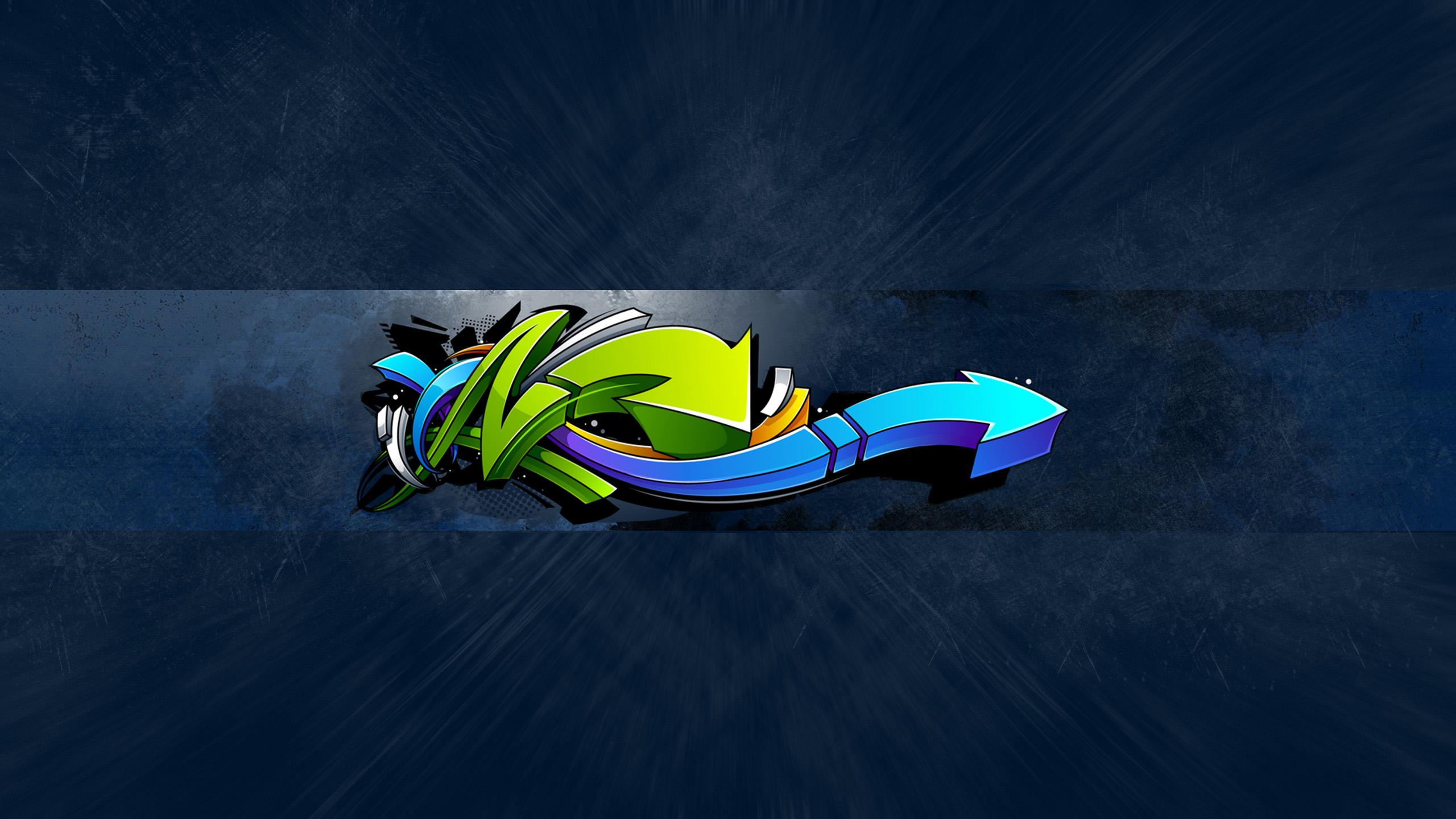 Картинка под макет шапки для youtube с голубым графическим дизайном.