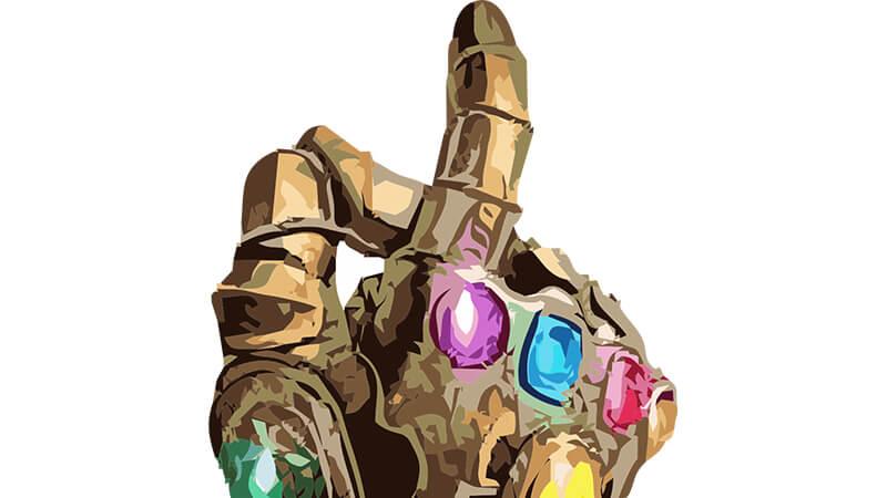 Картинка перчатка с камнями бесконечности.