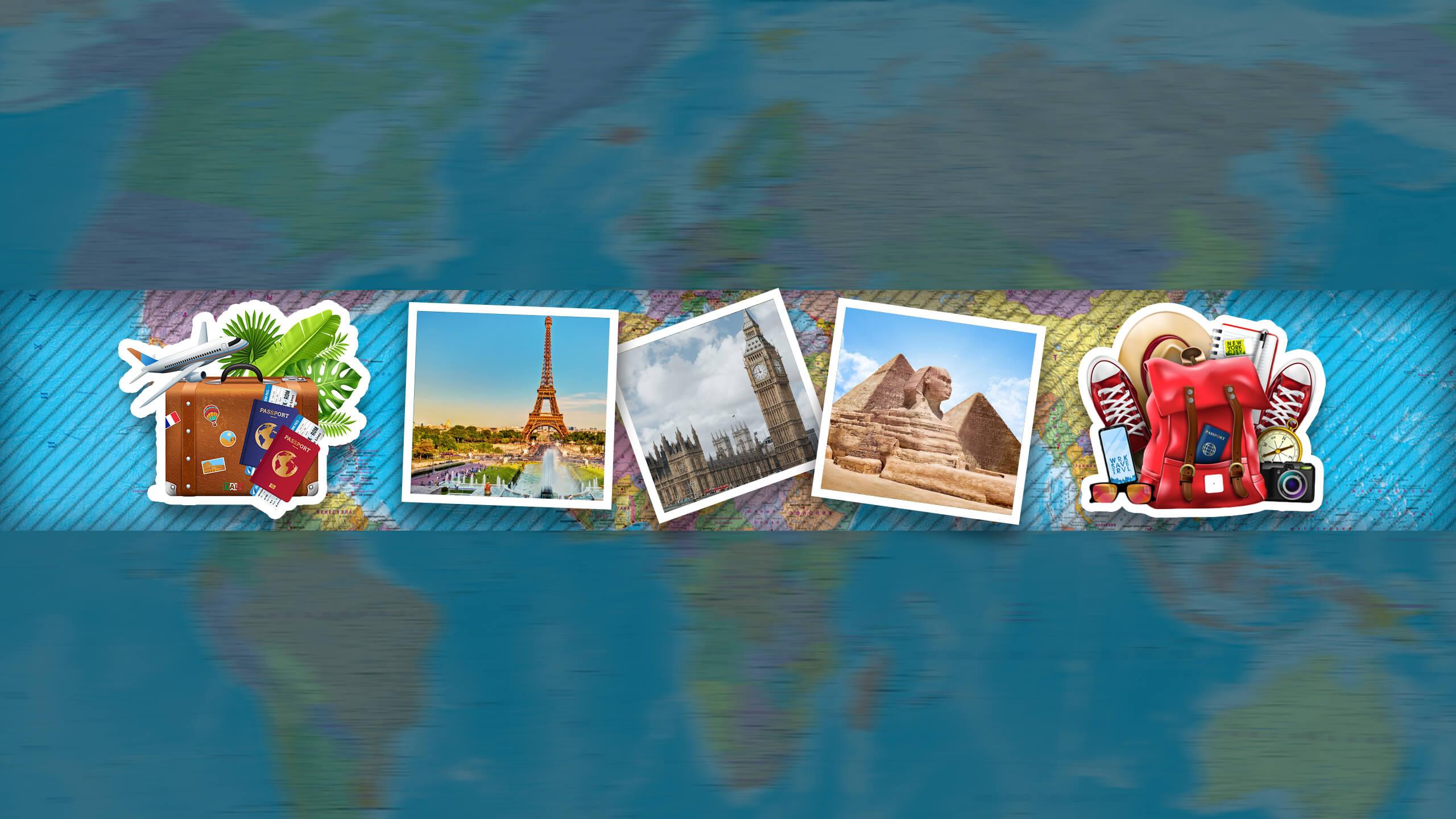 Картинка стикеры туриста с фото на фоне карты мира