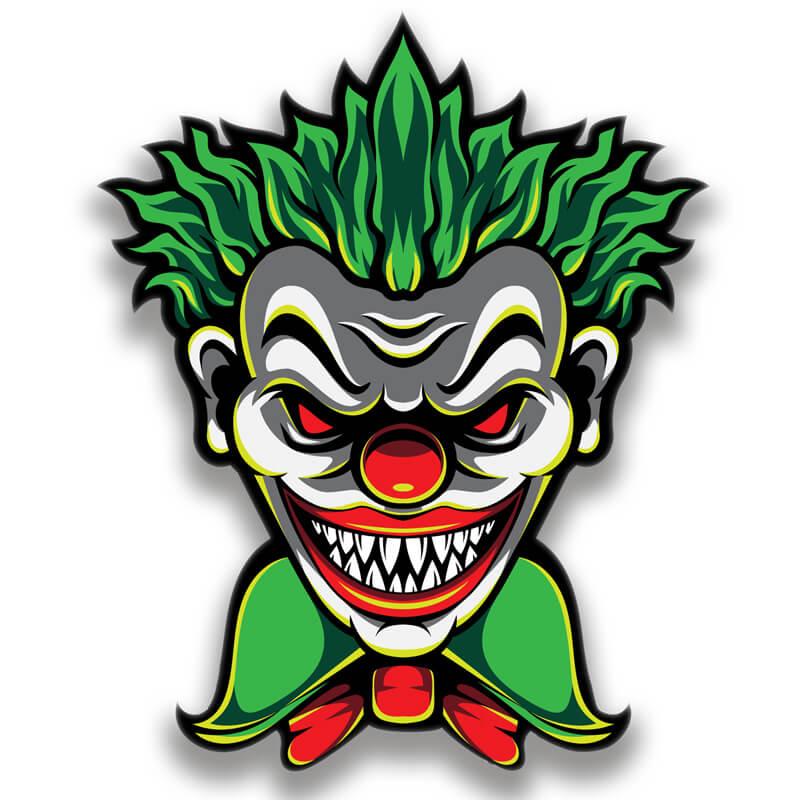 Картинка с зелёной головой клоуна - монстра на аву.