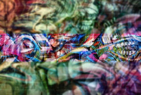 Картинка пустая шапка для ютуба красочное граффити