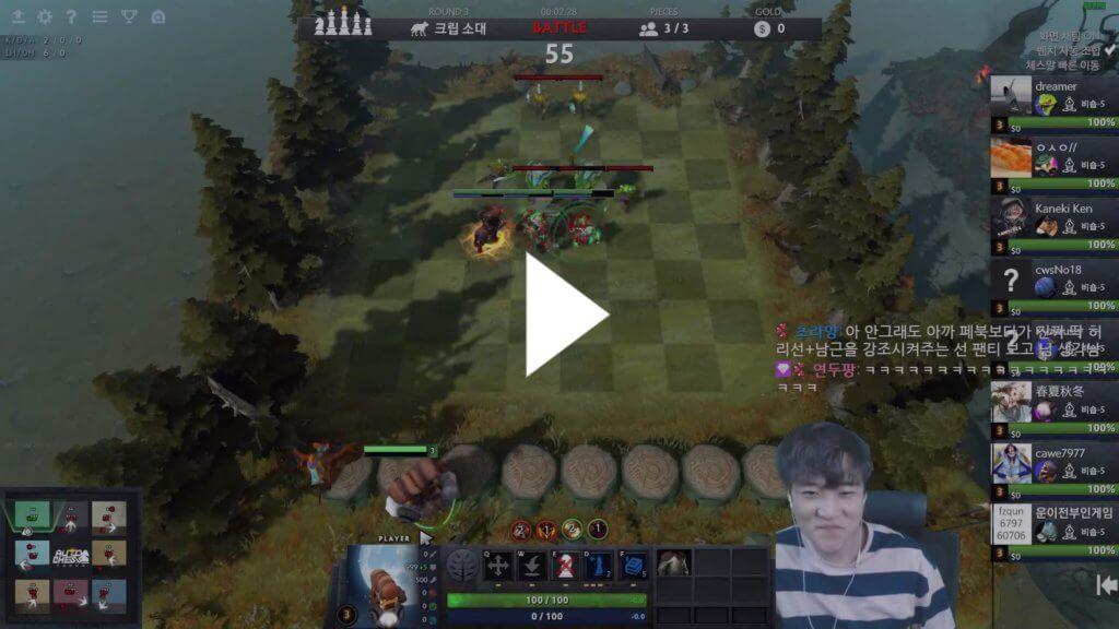 Скриншот игрового стрима по технологии хромакей