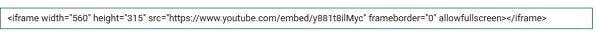 Картинка код вставки видео в html