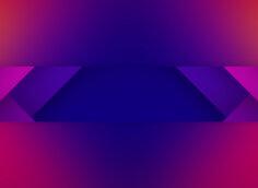 Фиолетовый фон с симметричными треугольниками красного и пурпурного цвета