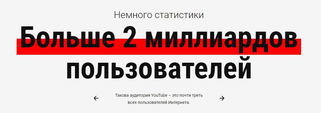 Картинка с текстом в линию сколько пользователей в ютубе и сколько ютубу лет