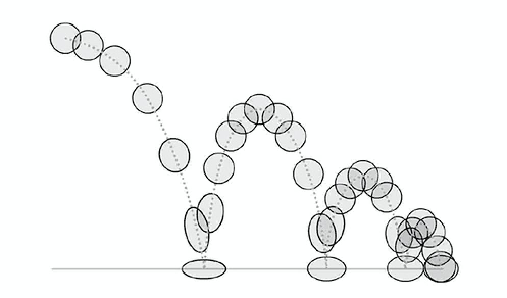 Штриховой рисунок схема из чёрных кругов и линий на белом фоне