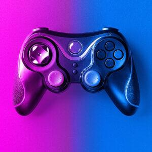Картинка пурпурная ава джойстик для игровой консоли