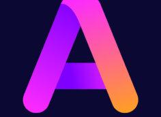 Картинка фиолетовая аватарка буква а с пурпурным оттенком