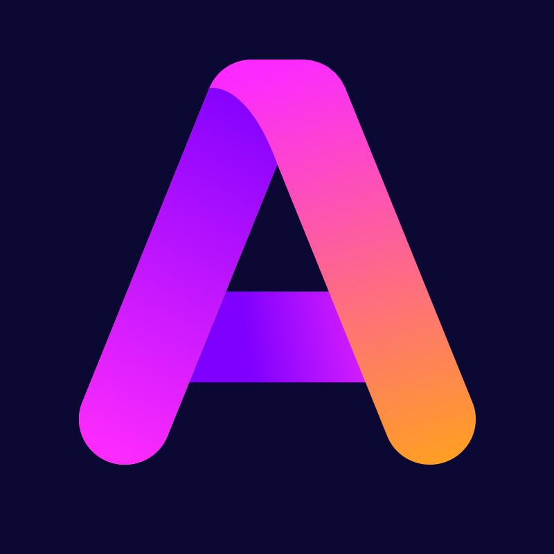 Фиолетовая аватарка буква а с пурпурным оттенком