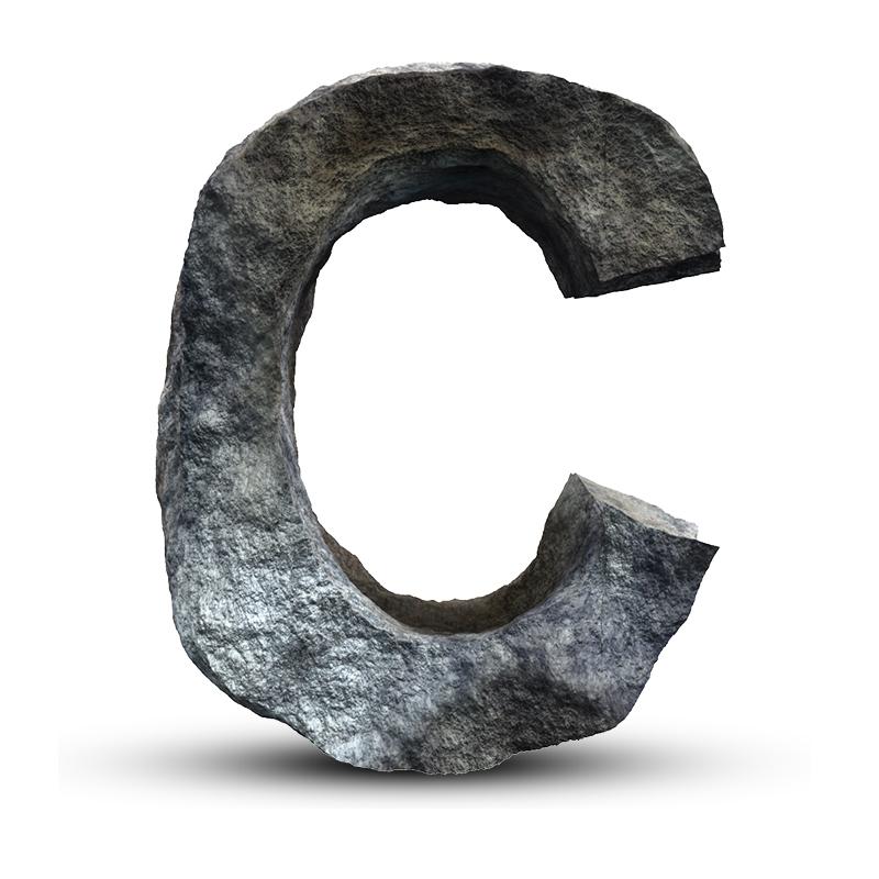 Картинка символ аватарки standoff 2 с буквой С из камня