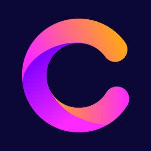 Картинка фиолетовая аватарка для ютуба с буквой с