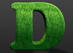 Картинка зелёная аватарка буква d из травы
