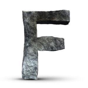 Картинка каменная буква f на аву для ютуба