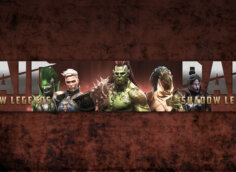 Обложка для ютуба 2560 х 1440 с персонажами игры RAID Shadow Legends