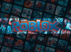 Картинка с графическим дизайном с надписью Roblox по середине