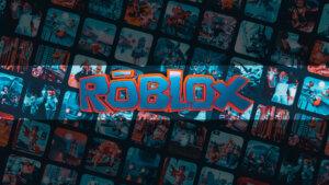 Картинка с графическим дизайном шапка для ютуба роблокс с надписью по середине