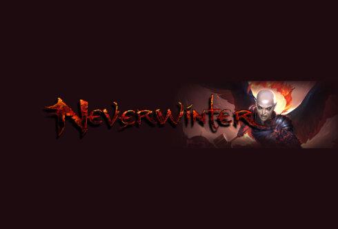 Картинка с текстом - тёмная обложка для канала ютуб с персонажем и логотипом компьютерной игры Neverwinter.