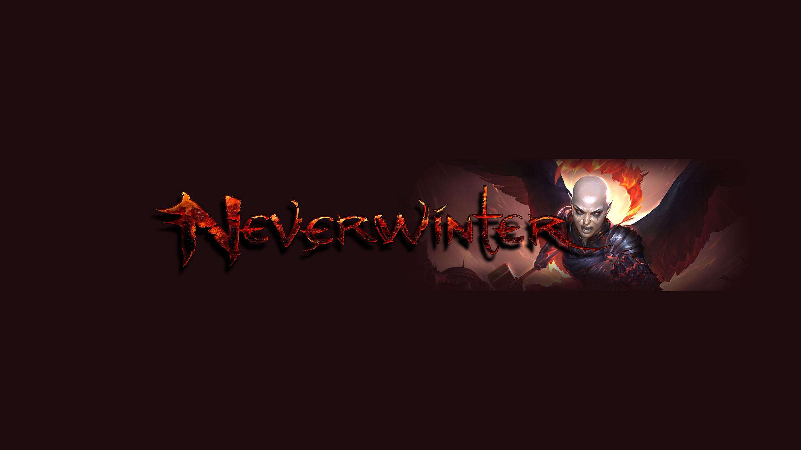 Тёмная обложка для канала ютуб с персонажем компьютерной игры Neverwinter.