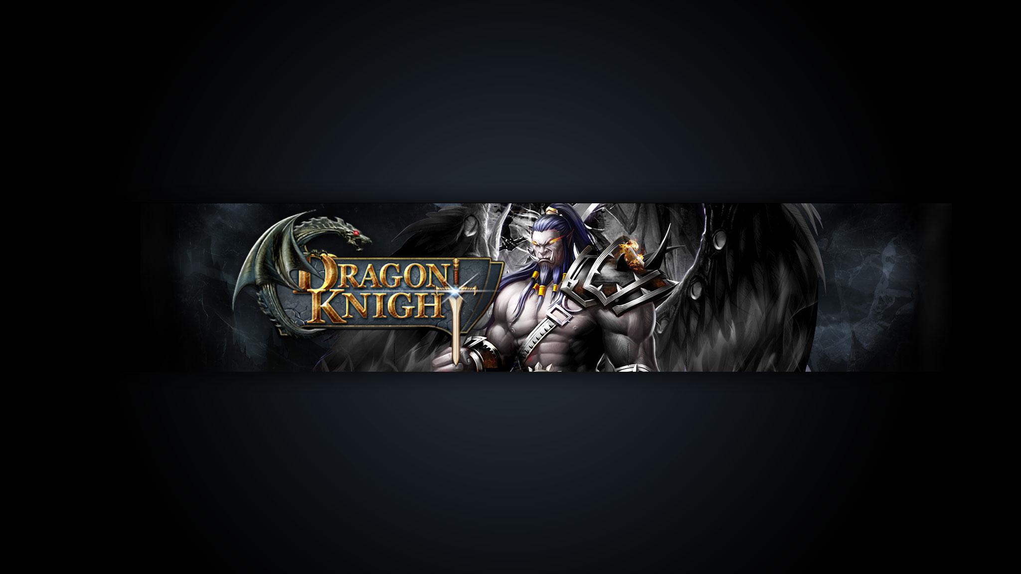 Картинка с текстом - тёмный баннер для ютуба 2048 1152 по игре Dragon Knight.