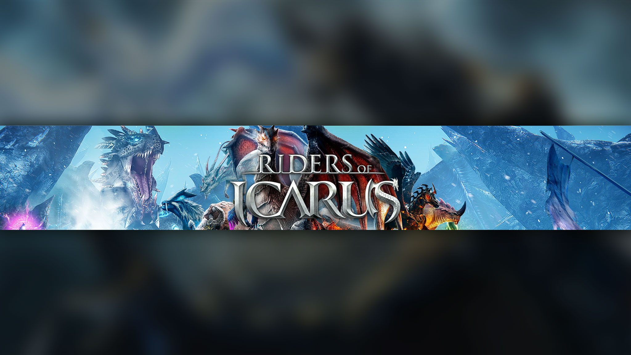 Картинка с текстом Icarus с драконами на фоне голубого неба.