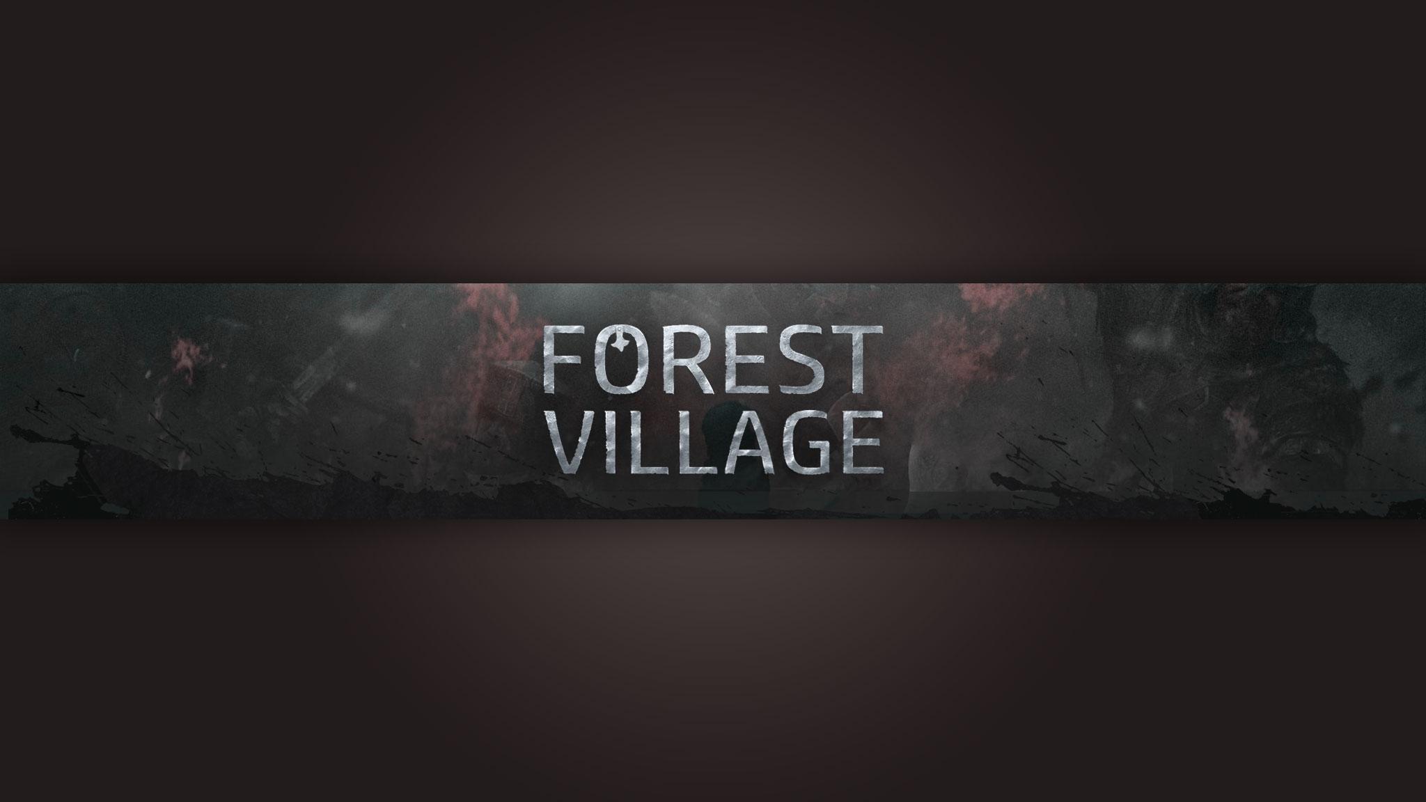 Картинка с текстом на оформление для канала youtube по игре Life is Feudal на тёмно коричневом фоне.