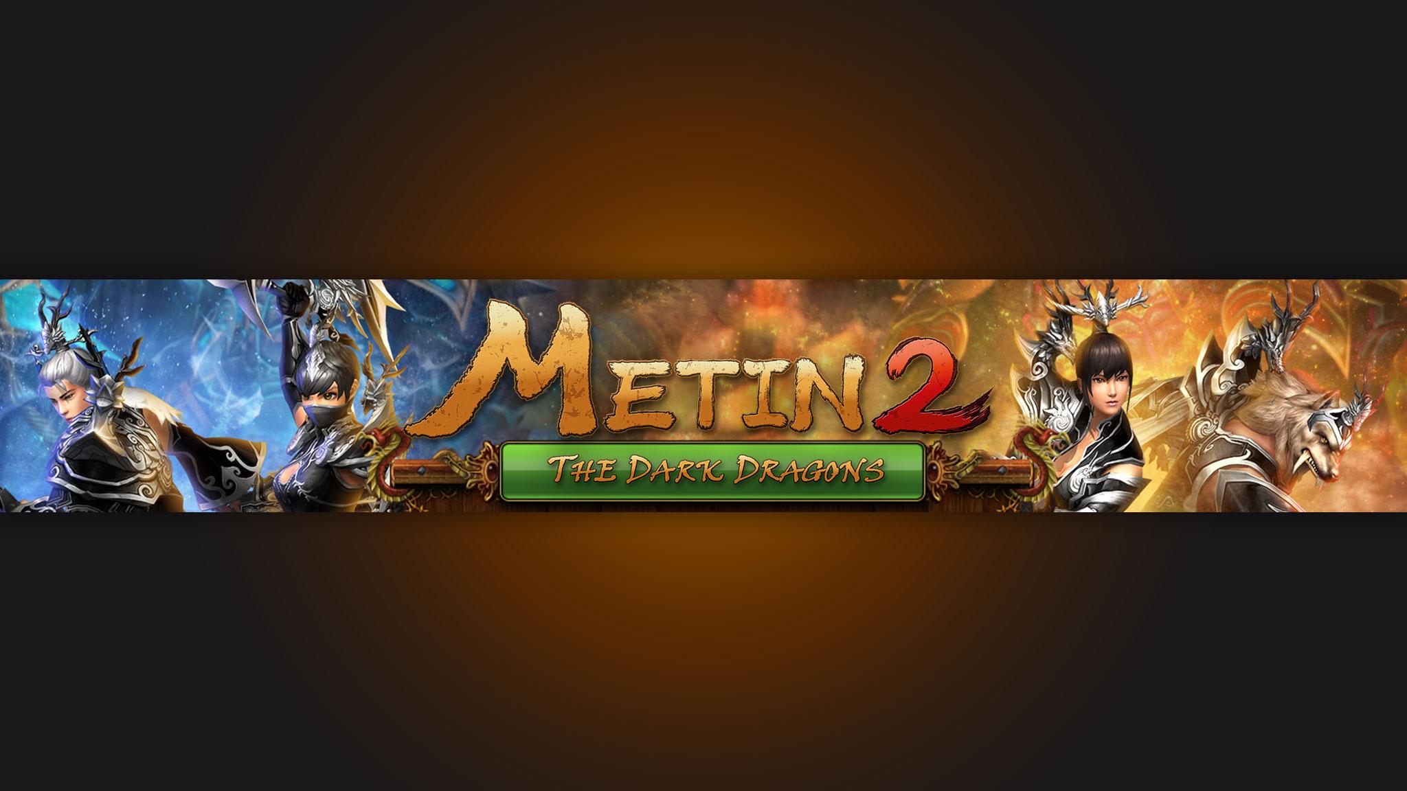 Обложка 2048х1152 по компьютерной игре Metin2 с вымышленными персонажами.