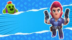 Картинка превью для ютуба браво старс с мультипликационным героем Кольтом из компьютерной игры на синем фоне.