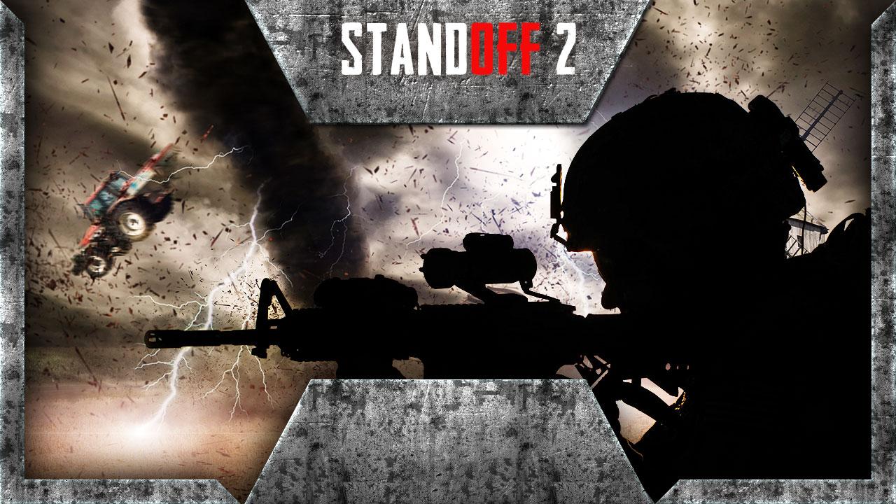 Картинка превью для ютуба psd по экшен игре Стэндофф 2 с чёрным контуром солдата в каске с автоматом.